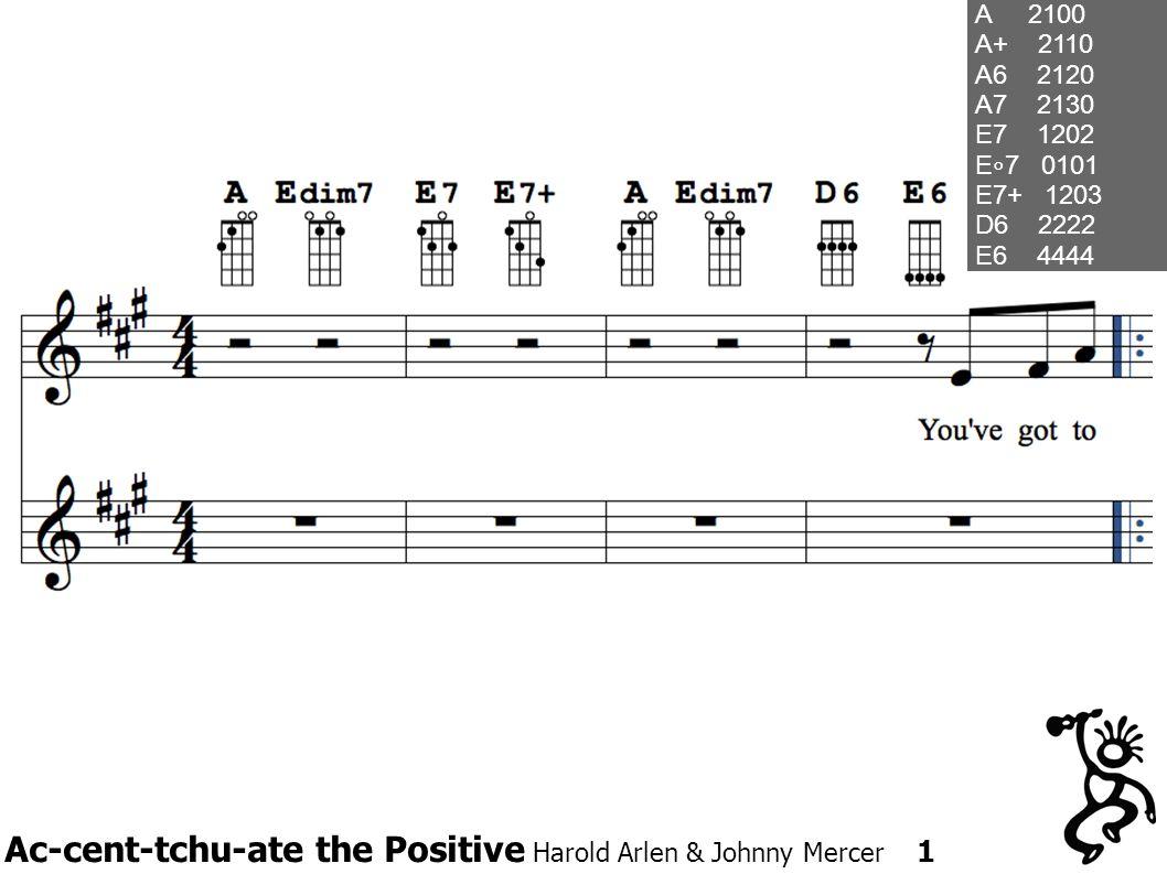 Ac-cent-tchu-ate the Positive Harold Arlen & Johnny Mercer 1