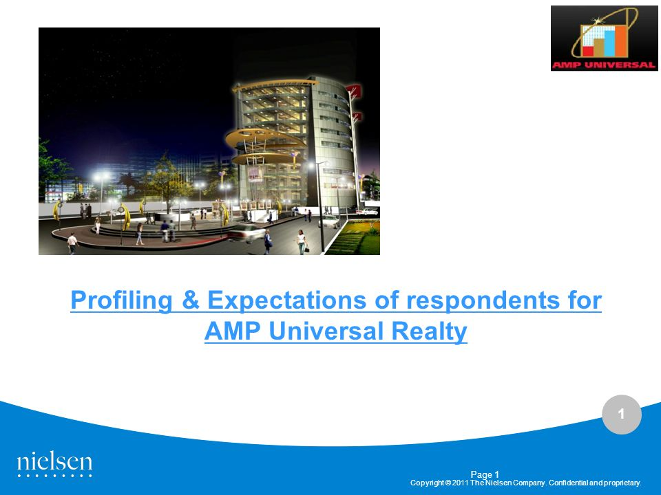 Profiling & Expectations of respondents for AMP Universal Realty