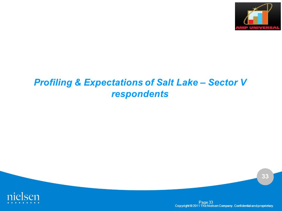 Profiling & Expectations of Salt Lake – Sector V respondents
