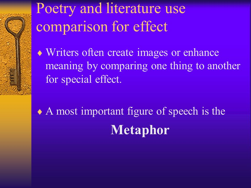 Poetry and literature use comparison for effect