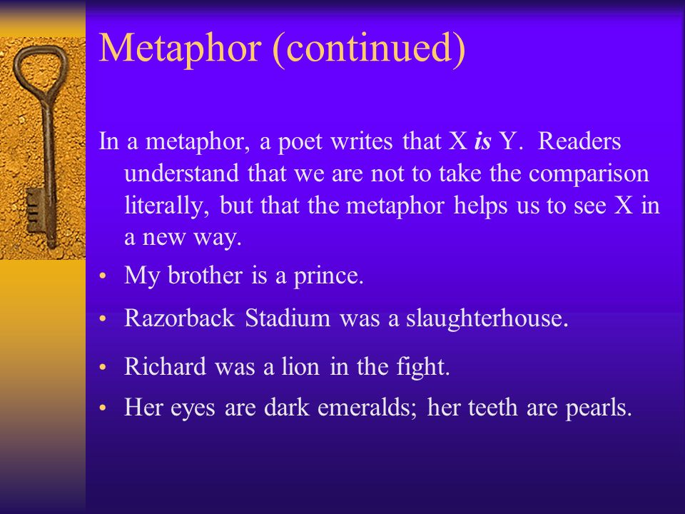 Metaphor (continued)