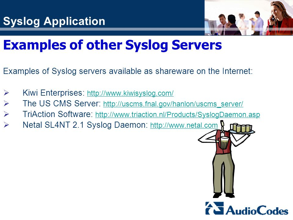 Examples of other Syslog Servers
