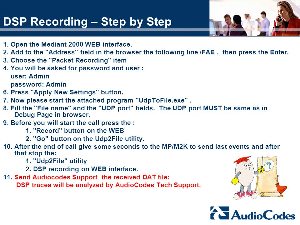 DSP Recording – Step by Step