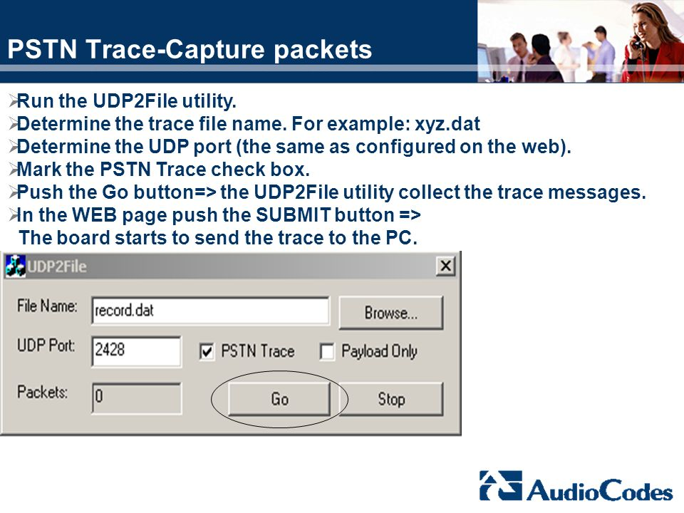 PSTN Trace-Capture packets