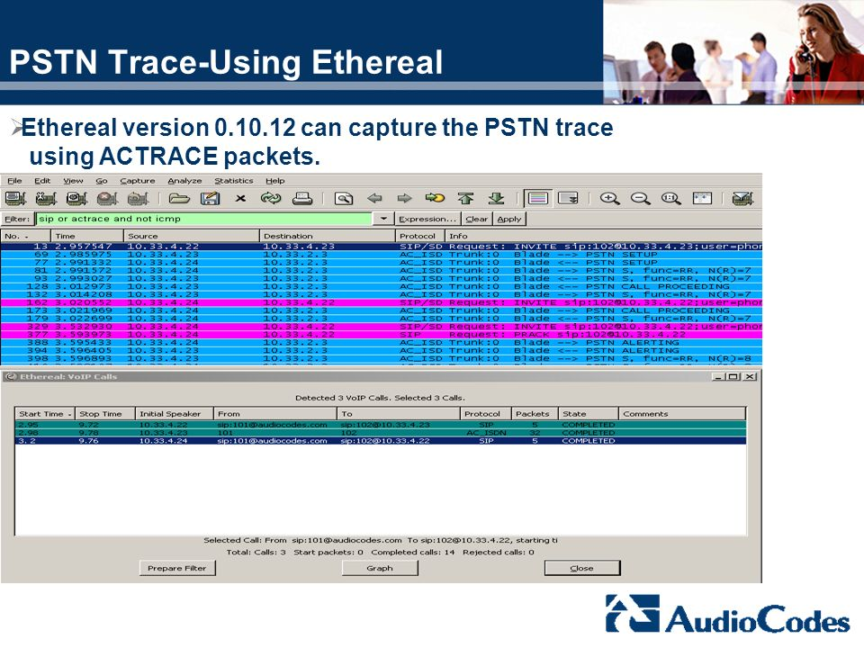 PSTN Trace-Using Ethereal