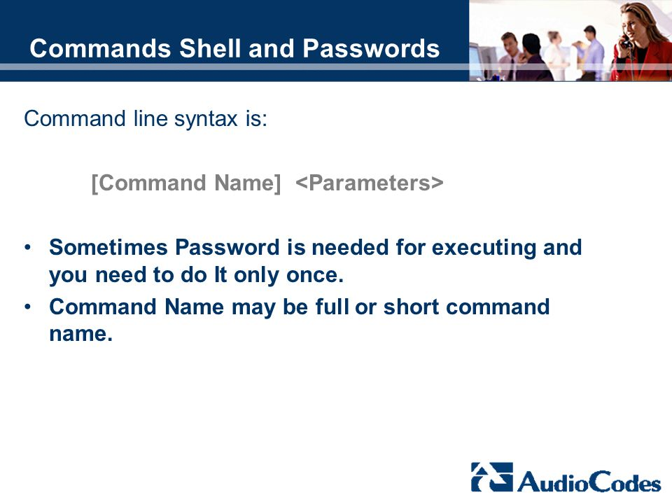 Commands Shell and Passwords