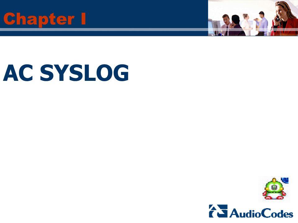 Chapter I AC SYSLOG