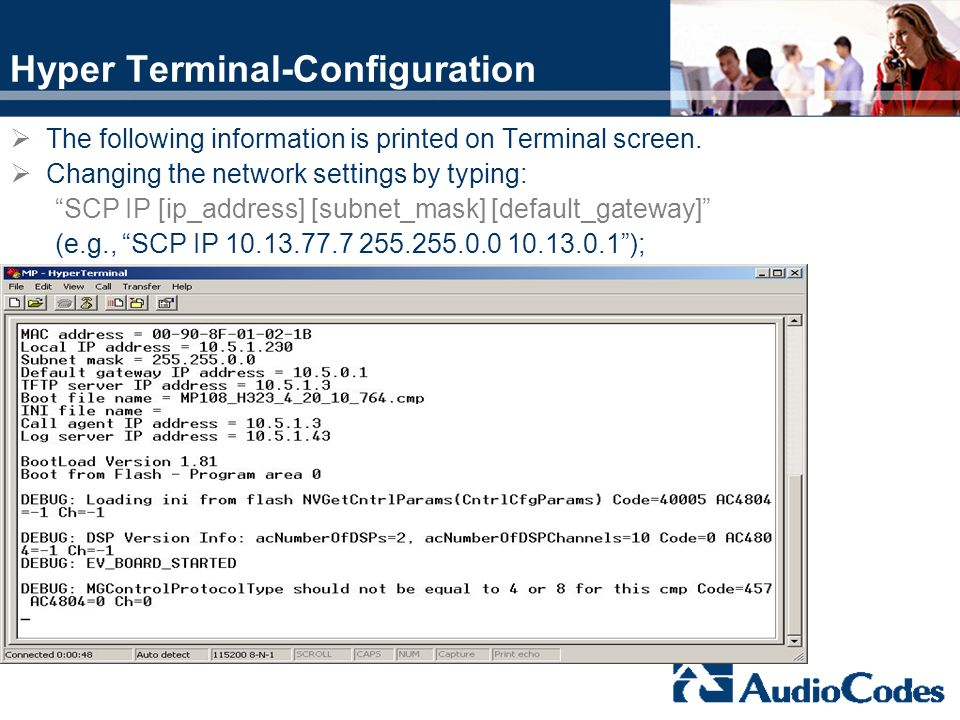 Hyper Terminal-Configuration