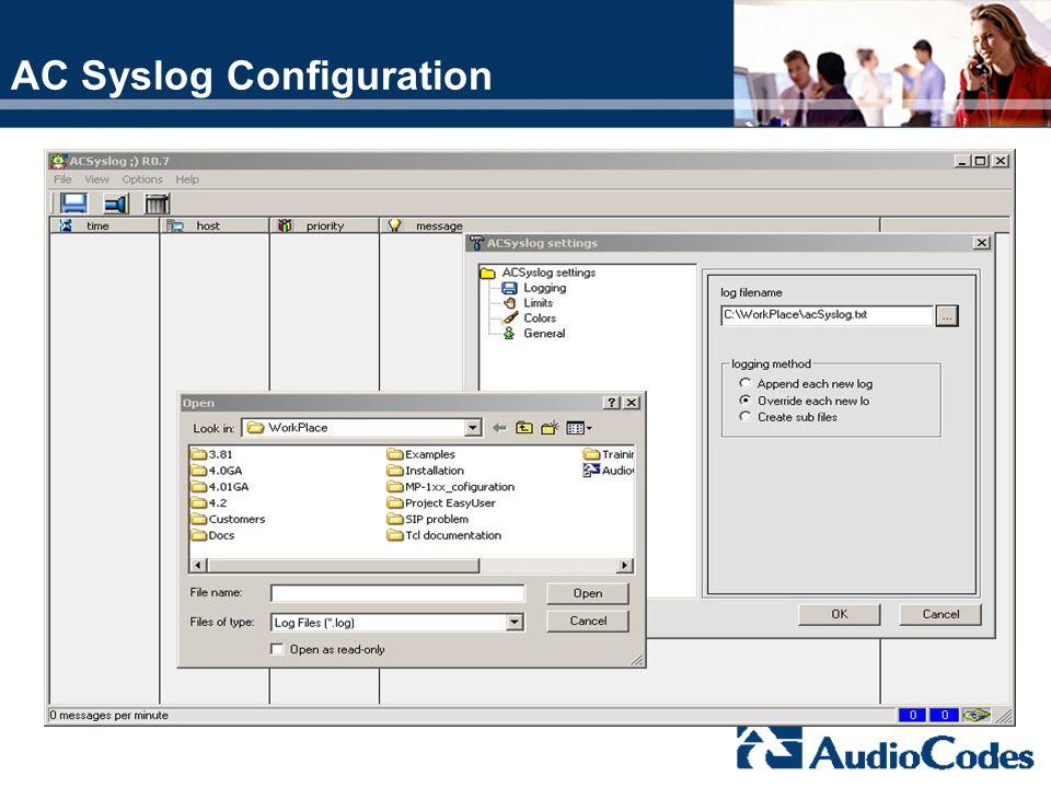 AC Syslog Configuration