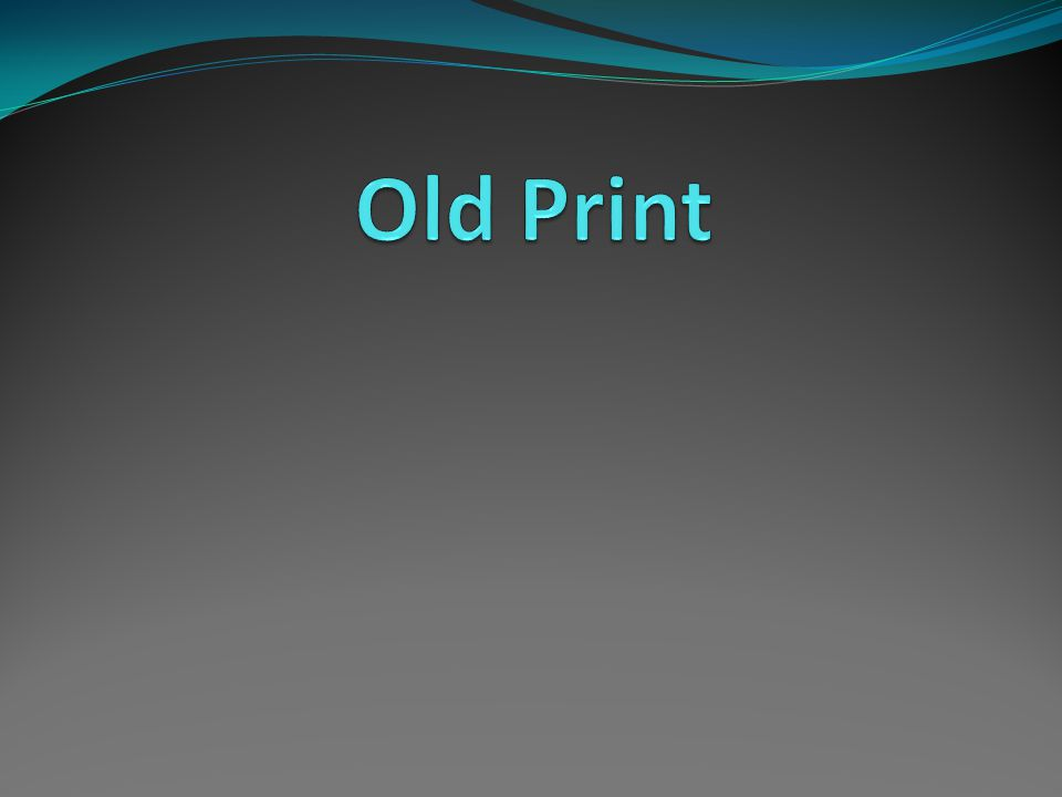 Old Print