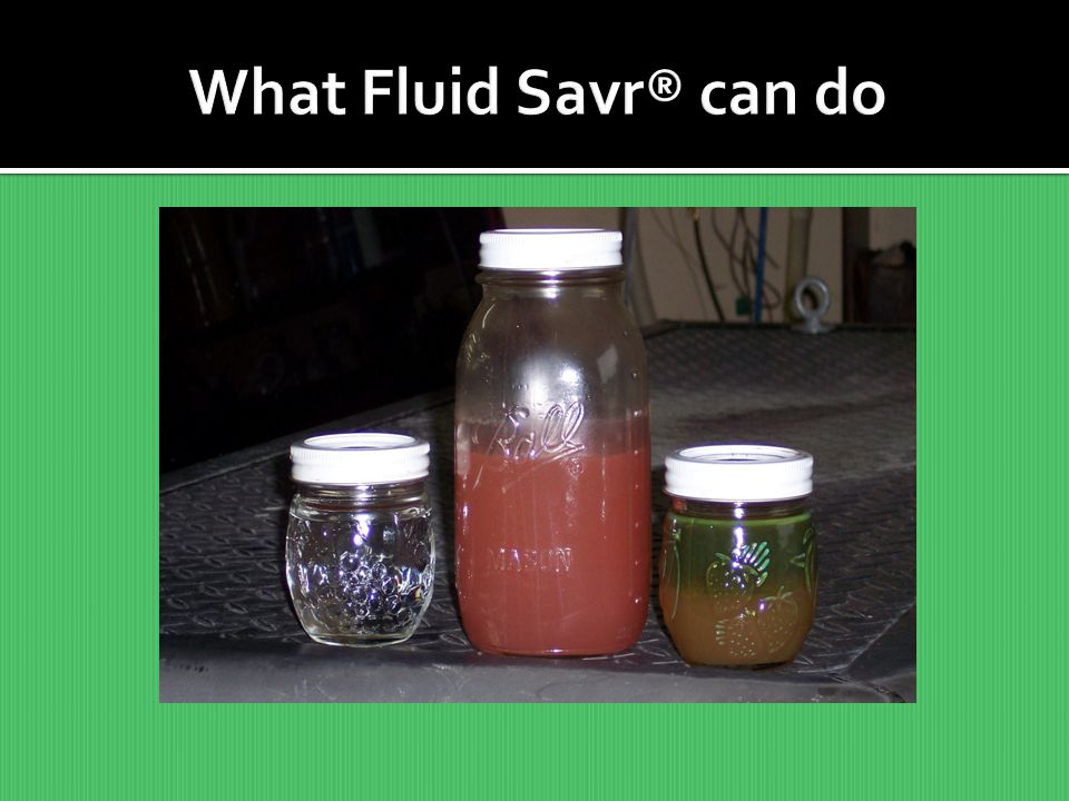 What Fluid Savr® can do