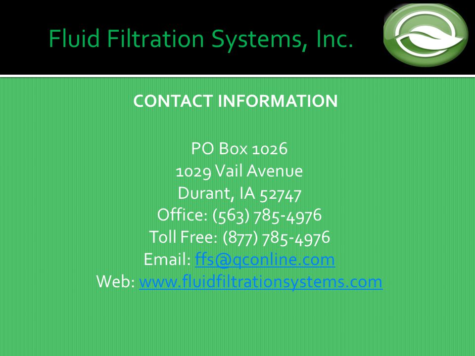 Fluid Filtration Systems, Inc.