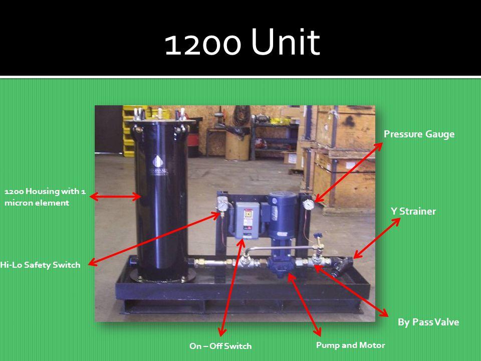 1200 Unit Pressure Gauge Y Strainer By Pass Valve