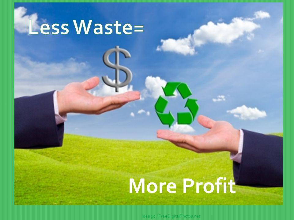 Less Waste= More Profit Idea go / FreeDigitalPhotos.net