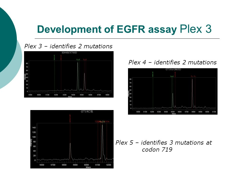 Development of EGFR assay Plex 3