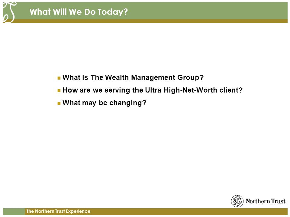 What Will We Do Today What is The Wealth Management Group