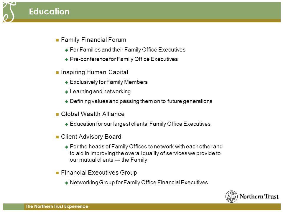 Education Family Financial Forum Inspiring Human Capital