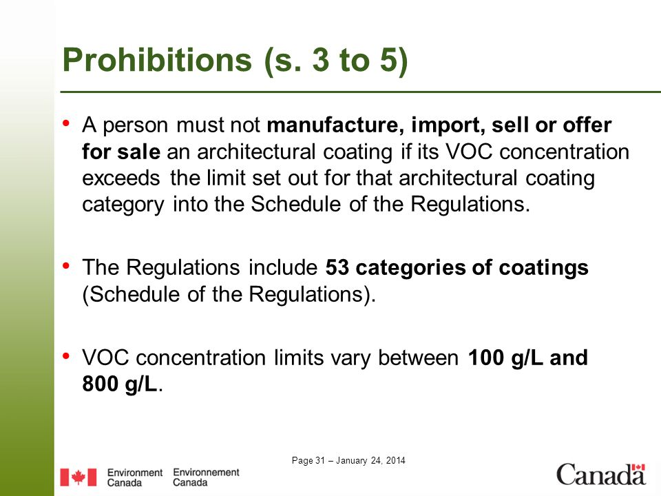 Prohibitions (s. 3 to 5)