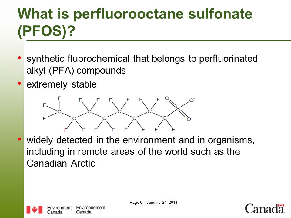 What is perfluorooctane sulfonate (PFOS)