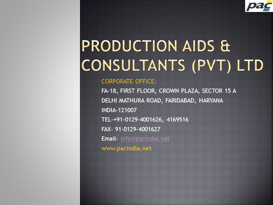 Production aids & consultants (Pvt) Ltd