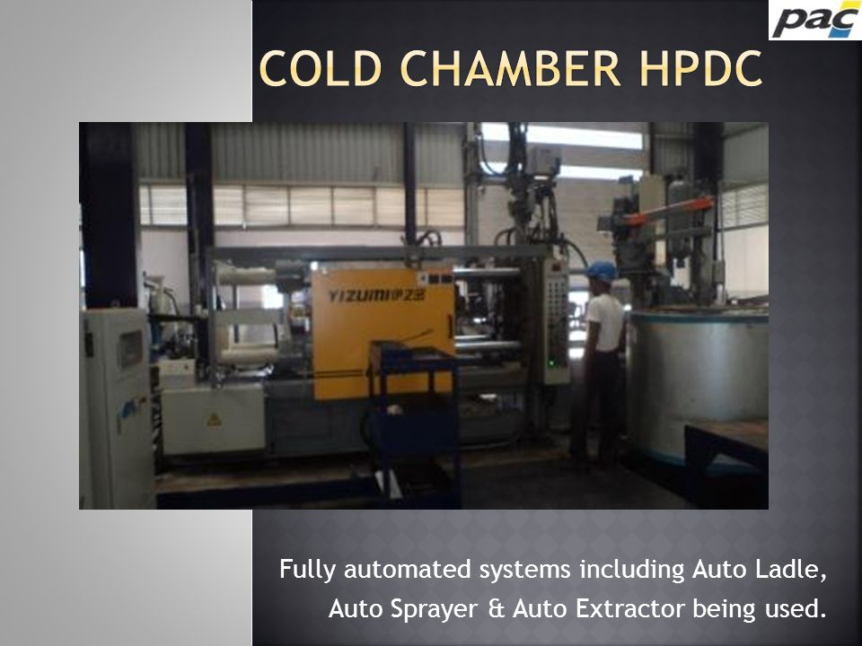 Cold chamber HPDC Fully automated systems including Auto Ladle,