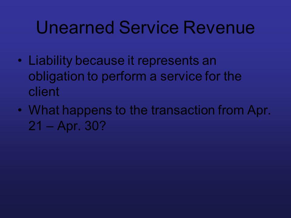 Unearned Service Revenue