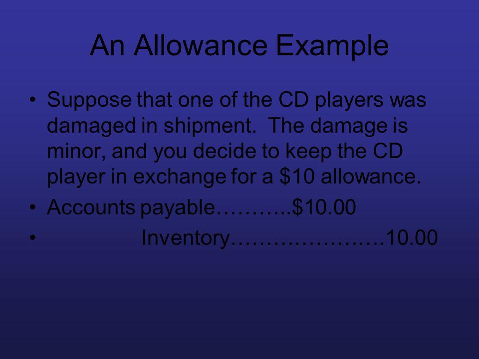 An Allowance Example