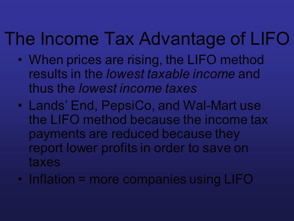 The Income Tax Advantage of LIFO