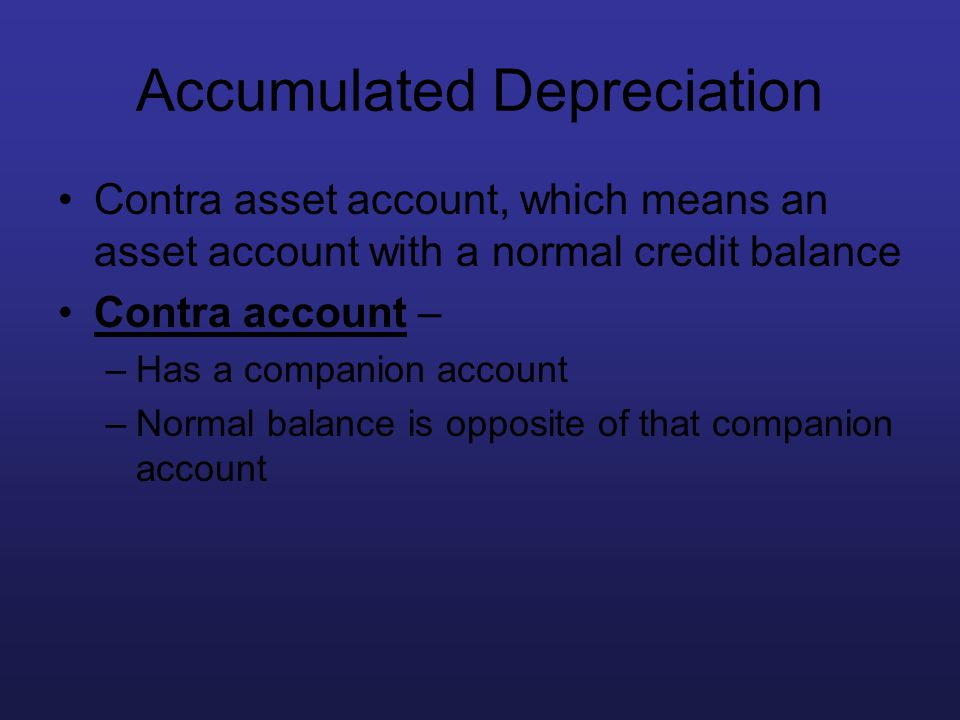 Accumulated Depreciation