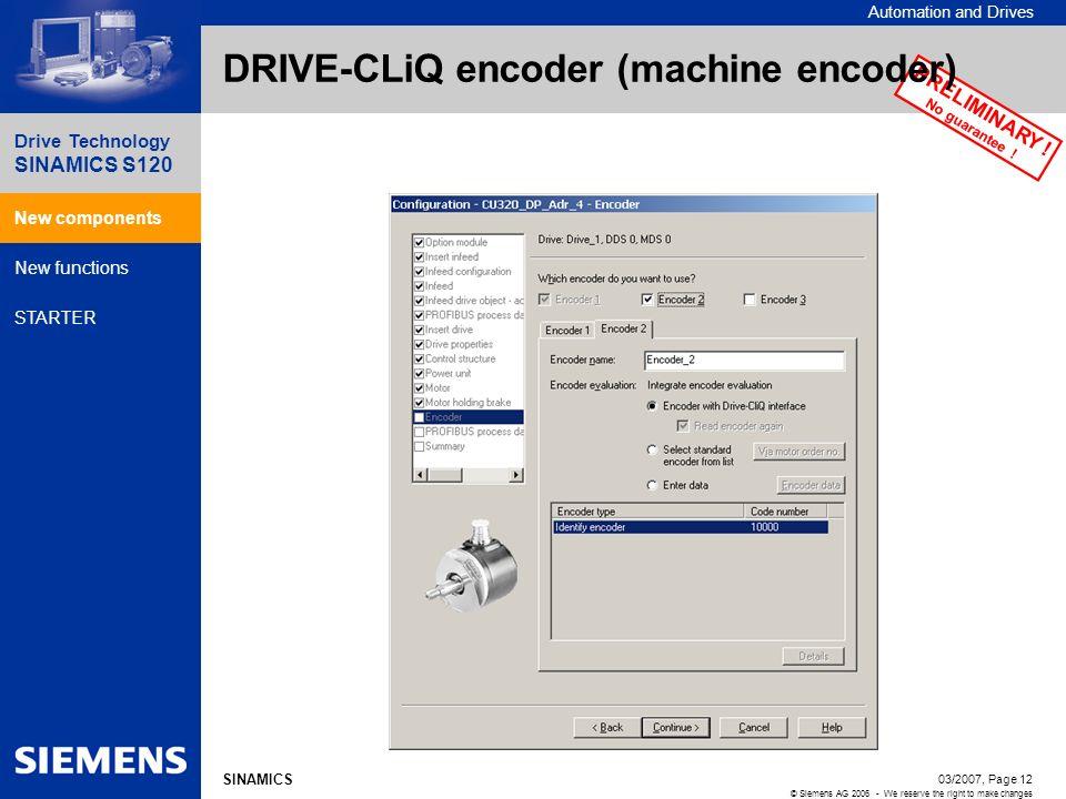 DRIVE-CLiQ encoder (machine encoder)