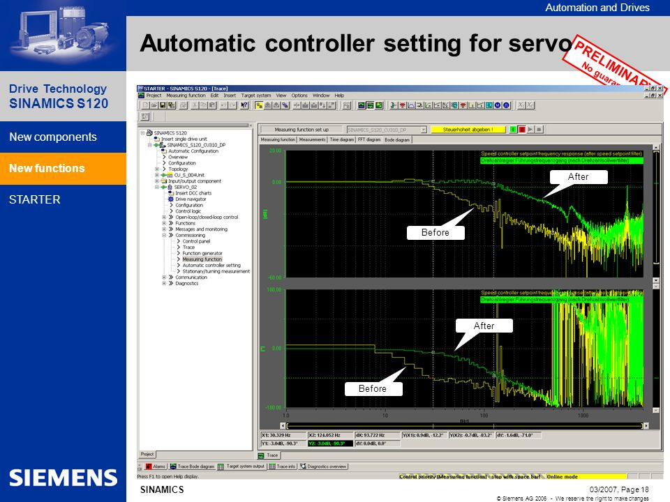 Automatic controller setting for servo