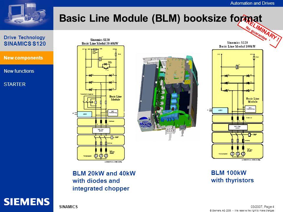 Basic Line Module (BLM) booksize format