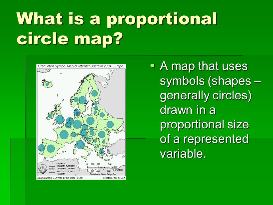 What is a proportional circle map