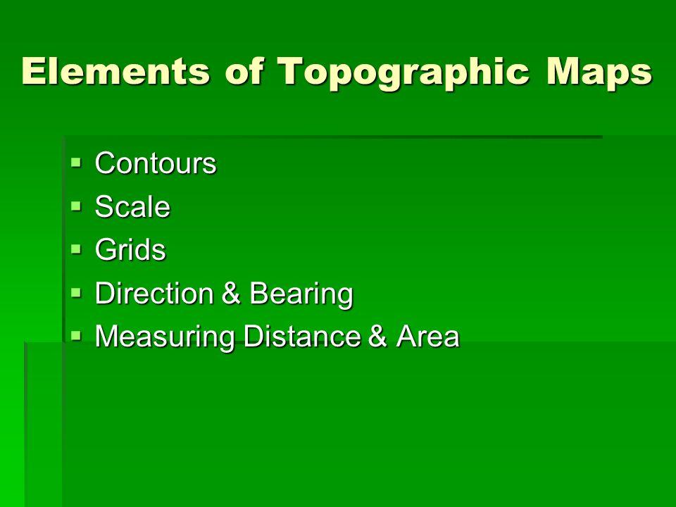 Elements of Topographic Maps