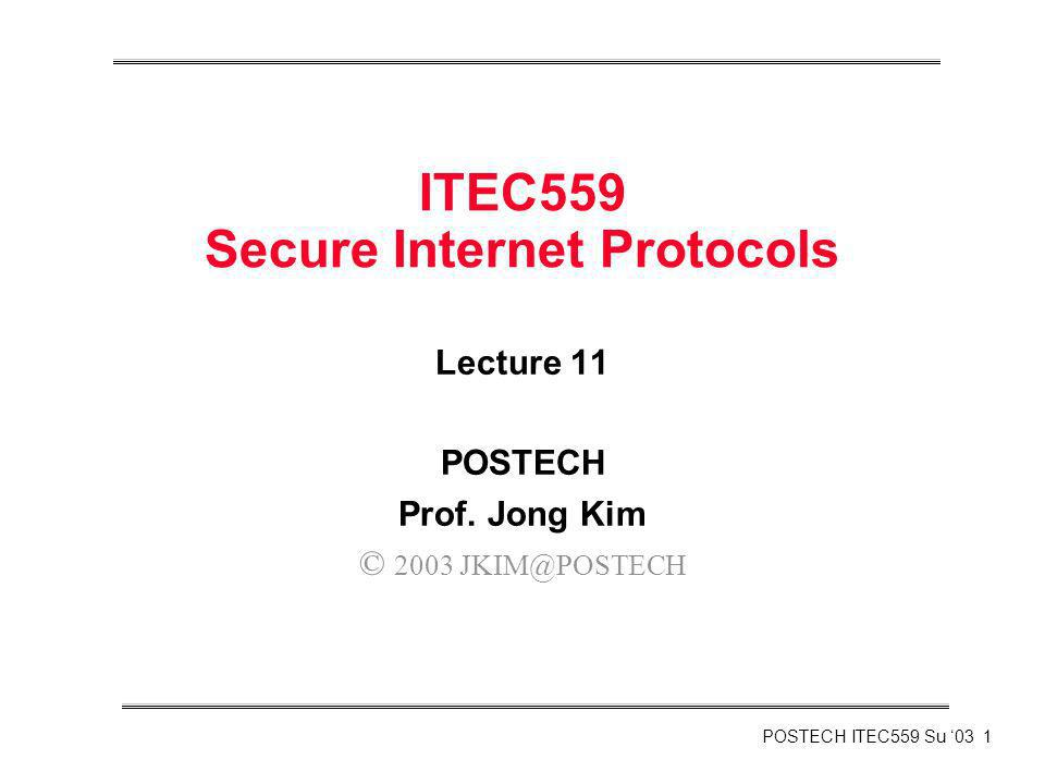 ITEC559 Secure Internet Protocols