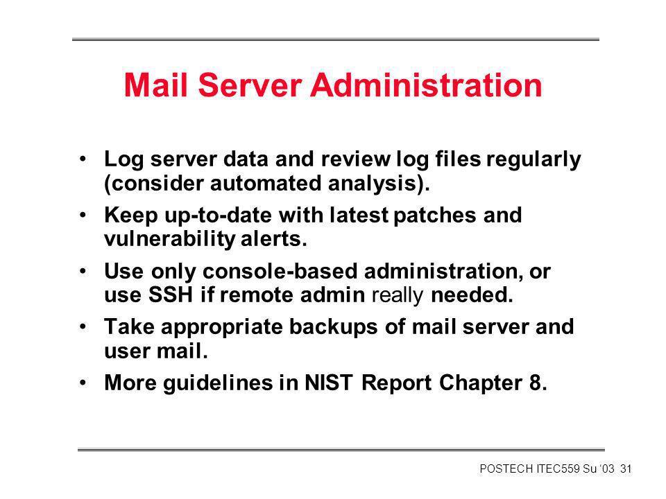 Mail Server Administration