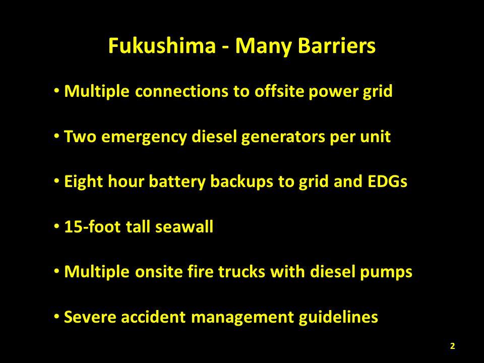 Fukushima - Many Barriers