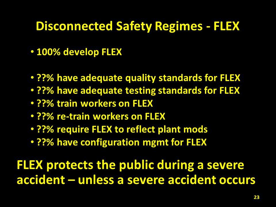 Disconnected Safety Regimes - FLEX