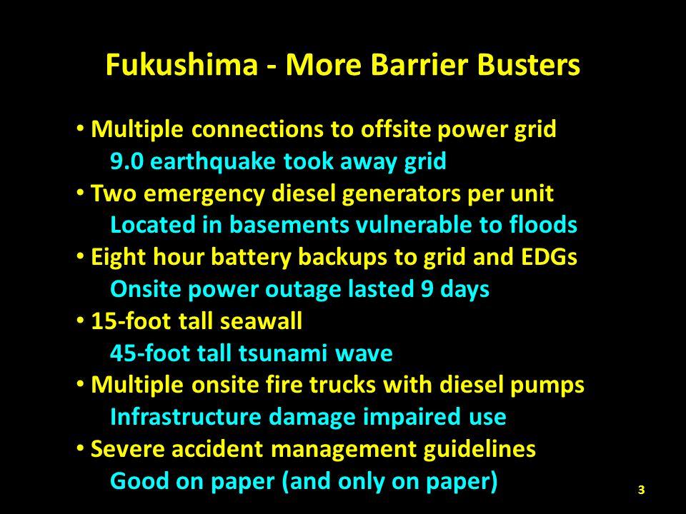 Fukushima - More Barrier Busters