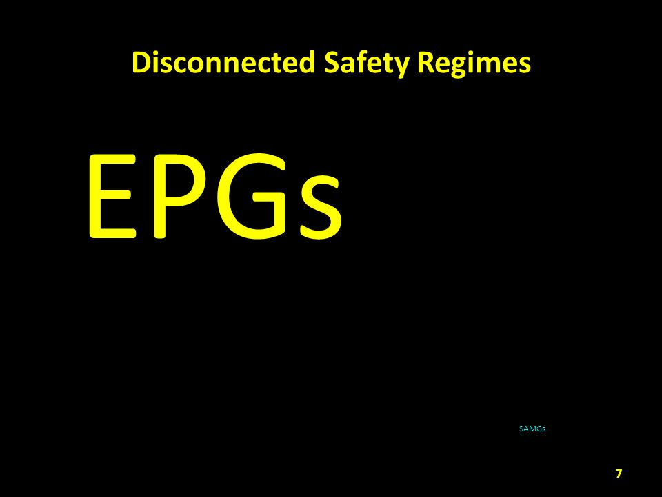 Disconnected Safety Regimes