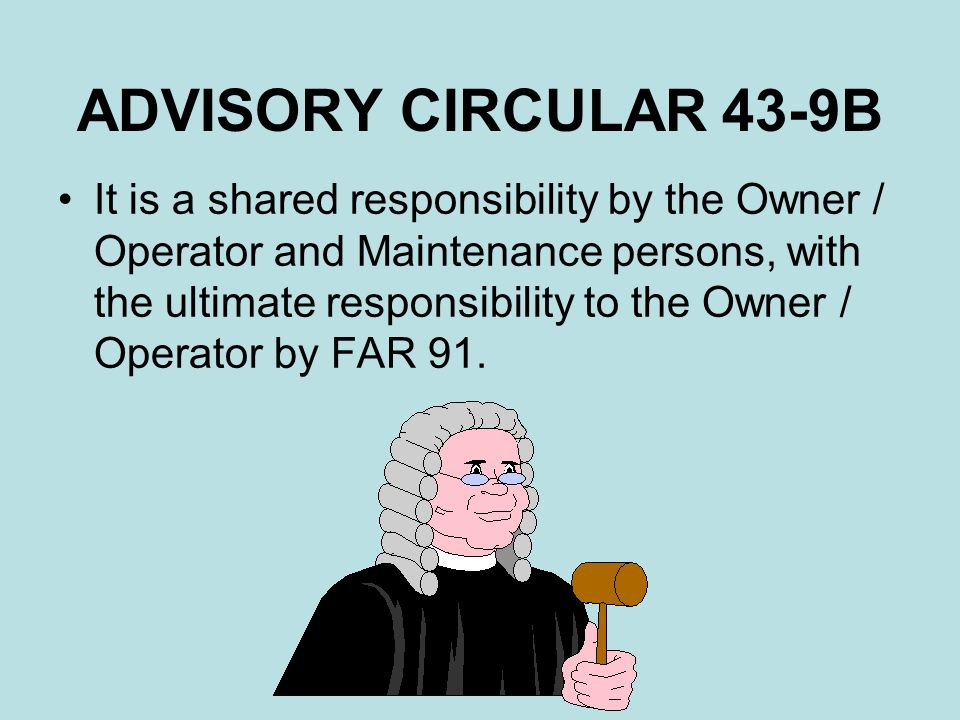 ADVISORY CIRCULAR 43-9B