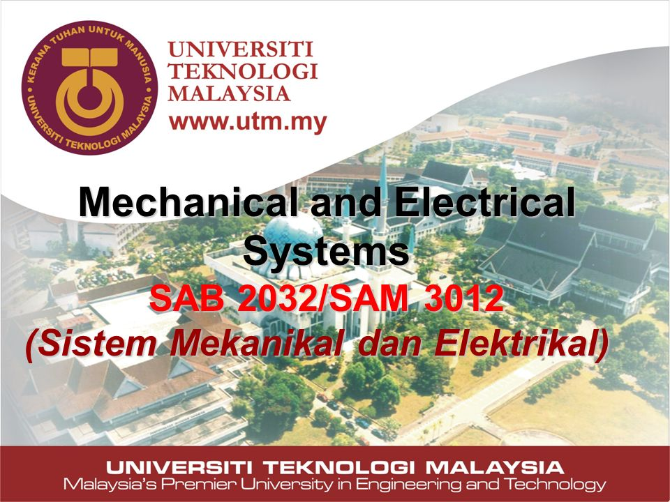 Mechanical and Electrical Systems