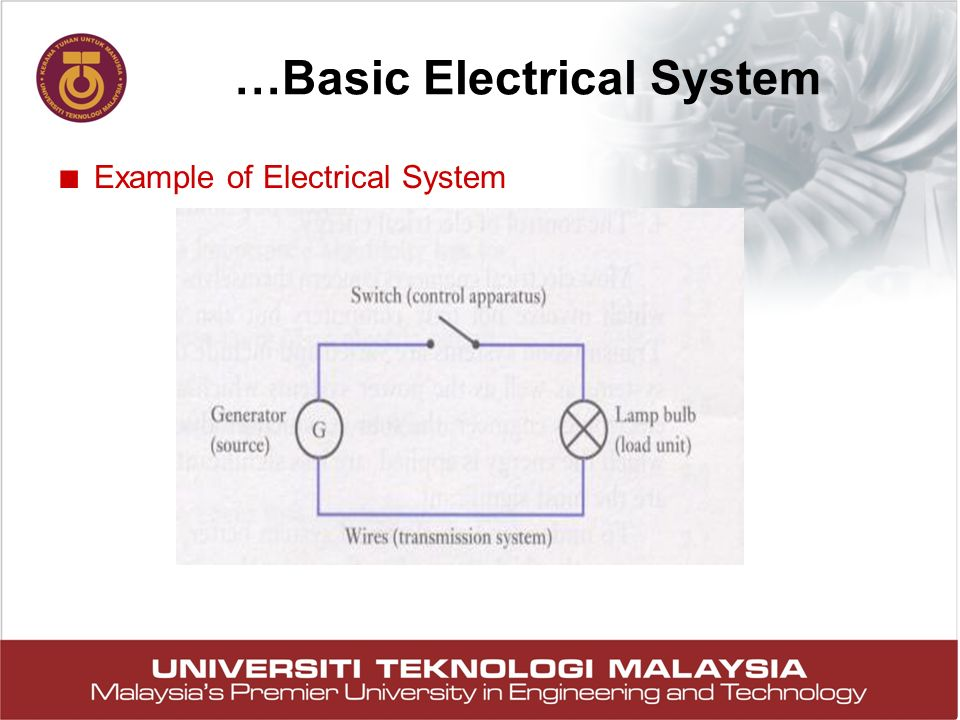 …Basic Electrical System