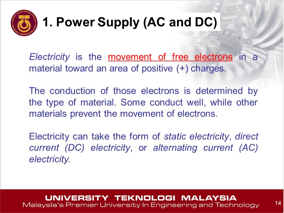 1. Power Supply (AC and DC)