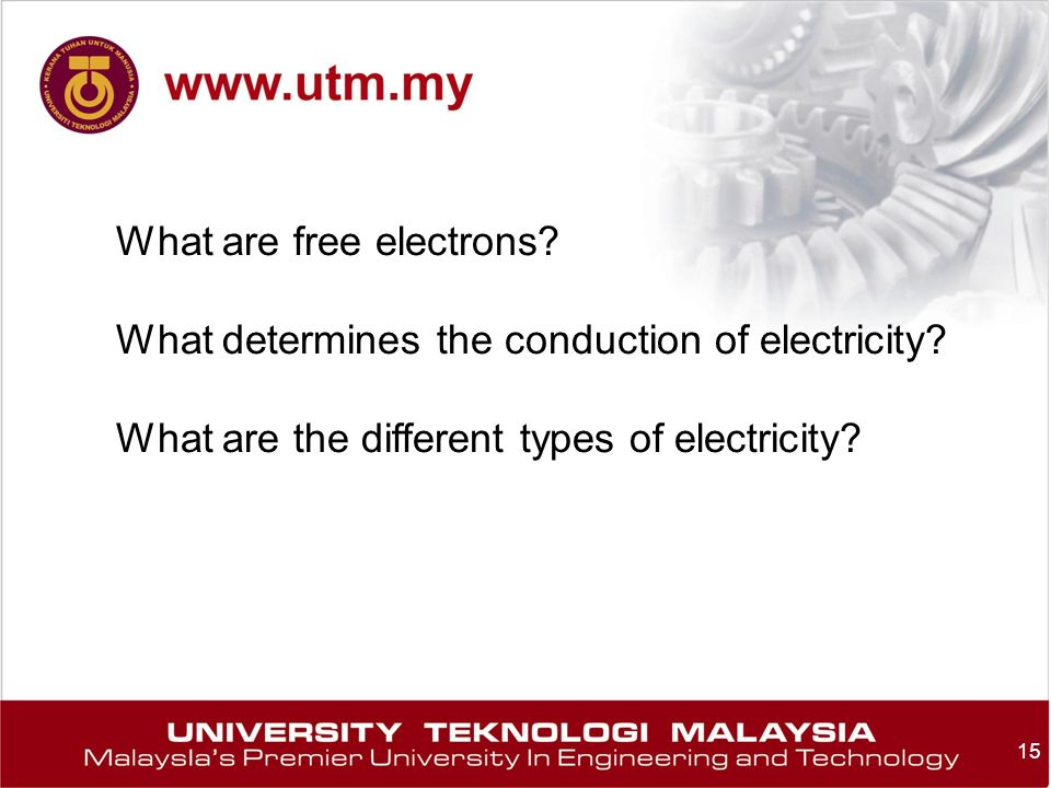 What are free electrons