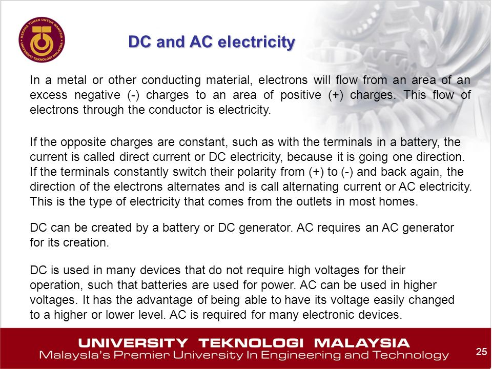 DC and AC electricity