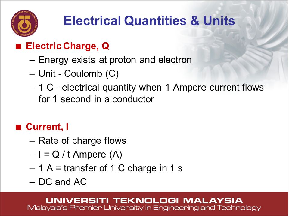 Electrical Quantities & Units