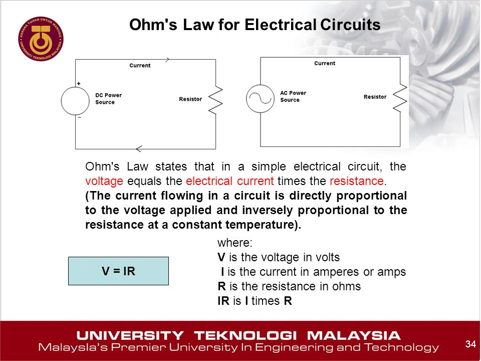Ohm s Law for Electrical Circuits