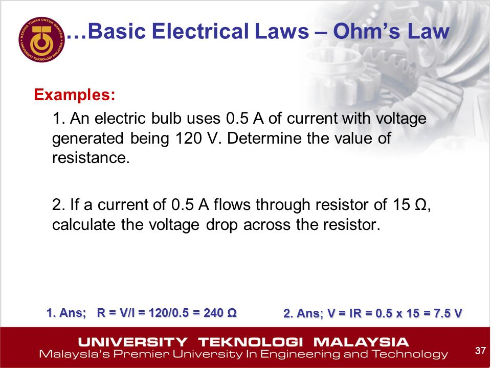 …Basic Electrical Laws – Ohm's Law