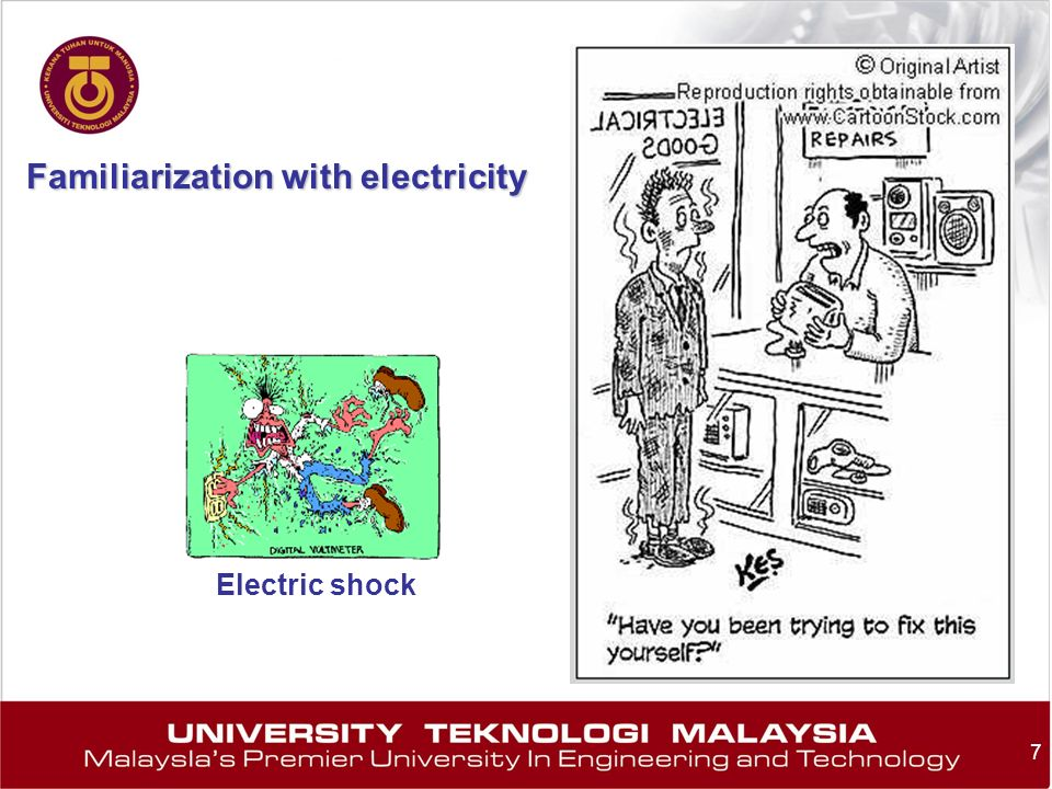 Familiarization with electricity